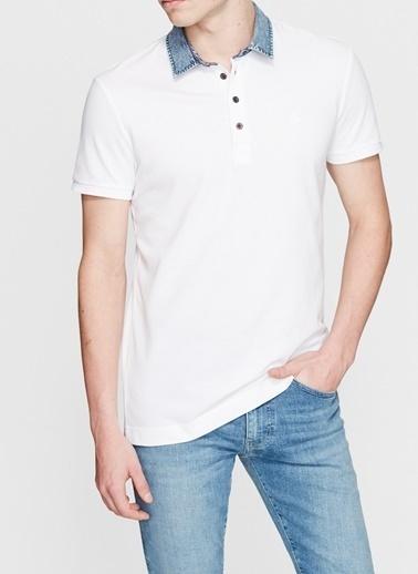 Mavi Mavi 062685-27879 Beyaz Erkek Polo T-Shirt Beyaz